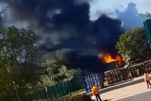 Footage of the fire by Brandon Saiger