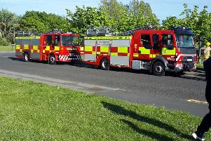 Fire engines at the scene. Picture: Mary Cartwright