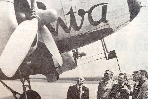 The DC3 which flew from Greatham to London.