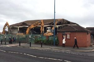 Demolition work has started at last on the derelict Longscar Centre at Seaton Carew seafront.