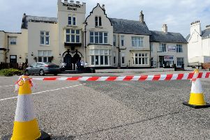 The Staincliffe Hotel car park closed awaiting the arrival of actress Brenda Blethyn who plays Vera. Picture by FRANK REID