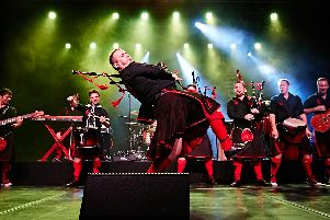 Red Hot Chilli Pipers play Holmfirth