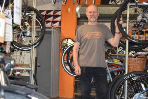 John Ainscough, owner of Blazing Saddles, said he has been told by the Environment Agency (EA) he will have to pack up his shop, on West End, and move for important engineering work to take place.