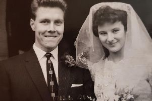 Bill Collier and Valerie at their wedding on March 12 1960