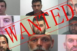 The nine men wanted in West Yorkshire