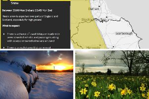 There is still heavy snow forecast for parts of Yorkshire on Monday.