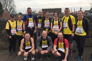 Northowram Pumas at the Liversedge half Marathjon