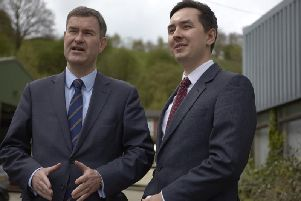 Former offender Jacob Hill, right, who set up the community interest company Offploy, was visited by Justice Secretary David Gauke last year.