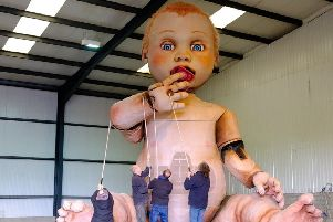 Outdoor theatre with a 22 feet tall baby!