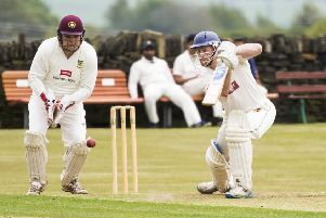 Dan Cole on his way to 85 for Shelf Northowram Hedge Top in the win over Triangle.