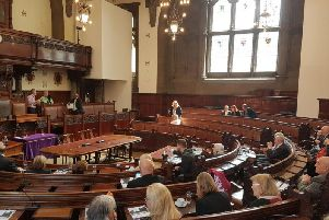 The council chamber at Wakefield County Hall