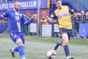 Frickley Athletic's Brad Wells. Picture: Onion Bag Photos