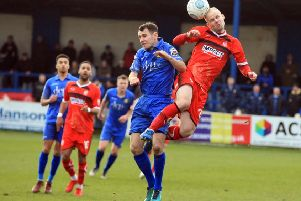 Liam King in action for Gainsborough Trinity.