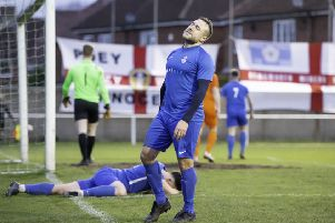 Hemsworth MW's Steven Jeff shows his disappointment in the defeat to Staveley MW. Picture: Allan McKenzie