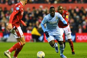 Jean-Kevin Augustin in action on his debut for Leeds United at Nottingham Forest. Picture: Jonathan Gawthorpe