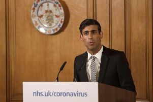 Chancellor Rishi Sunak gives a press conference on coronavirus. Photo: PA