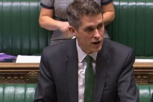 Education Secretary Gavin Williamson speaks in the Commons. Photo: PA