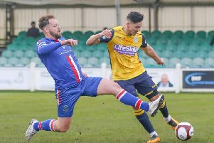 Frickley Athletic in action in the 2019-20 season. Picture: Onion Bag Photos