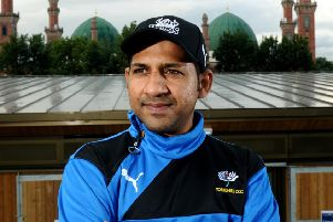 Going home: ICC Trophy-winning captain Sarfaraz Ahmed.''Picture: Jonathan Gawthorpe