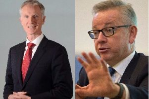 Richard Flint, chief executive of Yorkshire Water, and Environment Secretary Michael Gove.