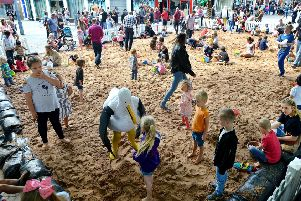 Annual Seaside in the City event held in Wakefield city centre.