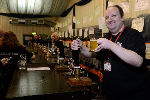 Mark Gibson at Wakefield Beer Festival