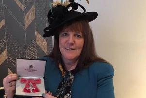 Lorraine Long with her MBE