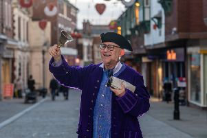 Pontefract Heritage Group reintroduced the town crier in 2017 - and John Turner has taken on the role since March last year.