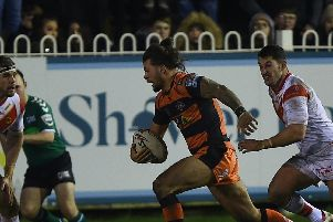 Alex Foster in action for Castleford Tigers this season. Picture: Matthew Merrick