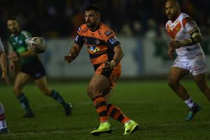 Matt Cook in action for Castleford Tigers. Picture: Matthew Merrick