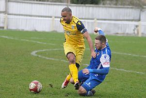 Jacob Hazel in action for Frickley Athletic.
