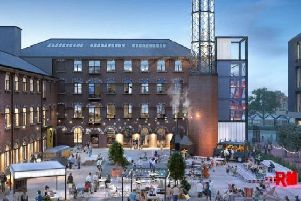 An artist's impression of how Rutland Mills could look after redevelopment.