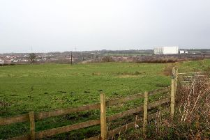 Land off Newmarket Lane in Stanley, where a new community stadium was given planning permission in 2012.