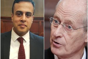 Angry exchanges took place between Coun Ahmed (left) and Coun Box (right) on Wednesday.