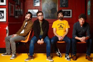 The Bluetones - from left, singer Mark Morriss, guitarist Adam Devlin, bassist Scott Morriss and drummer Eds Chesters.