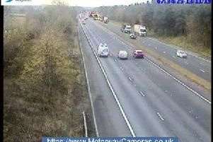 M1 junction 21 southbound.