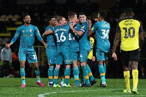 Stags celebrate at Burton