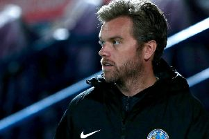 Daryl McMahon, manager of Macclesfield Town.