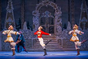 Luca Acri, Tristan Dyer and Alexander Campbell in The Royal Ballet's production of The Nutcracker.