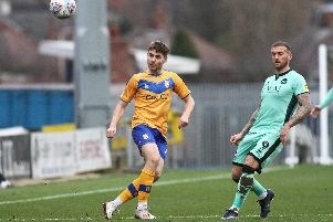 Joe Riley gave Mansfield Town the lead.