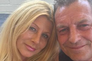 Sharon Toulson with husband Mark who, she says, was 'left for dead' after a brutal assault.
