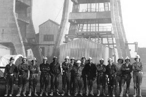 1975: A great bygone shot featuring a visit to the 'Bottom Pit', Portland Road, Hucknall. Do you recognise anyone? Picture courtesy of Nottinghamshire Archives.