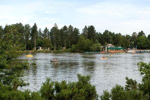 The lake at Center Parcs, Sherwood Forest.