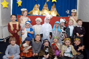 2007: Foundation pupils at Newstead Primary School take part in their nativity play and seem to be having a lot of fun. Did you take part in a nativity and if so what part did you play?