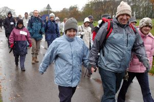 2007: Walkers set off from Newstead Abbey on the Byron Winter Walk organised by the Nottinghamshire Royal Society for the Blind. Did you go on this walk?