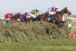 One For Arthur on his way to victory in the 2017 Randox Health Grand National at Aintree.