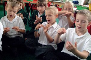 2007: Children from Annie Holgate Infant School in Hucknall are pictured here being taught sign language. Did you go to this school?
