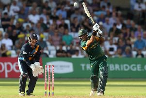 Nottinghamshire Outlaws in T20 action at Trent Bridge. (PHOTO BY: David Rogers/Getty Images)