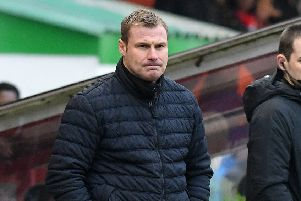 Picture Andrew Roe/AHPIX LTD, Football, EFL Sky Bet League Two, Lincoln City v Mansfield Town, Sincil Bank, 24/11/2018, K.O 3pm''Mansfield's manager David Flitcroft''Andrew Roe>>>>>>>07826527594