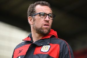 CREWE, ENGLAND - JULY 30: Crewe's manager David Artell looks on during the pre-season friendly match between Crewe Alexandra and Stoke City at The Alexandra Stadium on July 30, 2017 in Crewe, England. (Photo by Nathan Stirk/Getty Images)